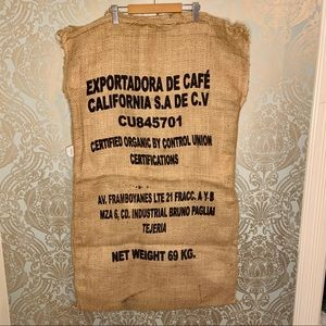 Large Burlap Coffee Bag - Wall Decor
